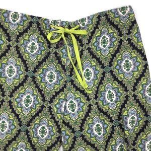 Vera Bradley Corduroy Blue Green Motif Pants S